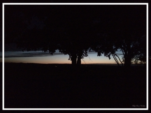 Sunset from the porch (Big Sky Wide).